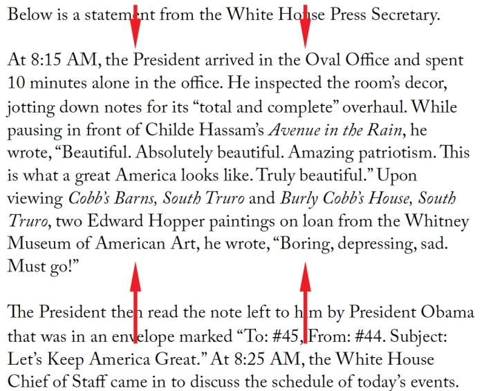 As Predicted, President Trump Embraces Childe Hassam, Evicts Edward Hopper from Oval Office