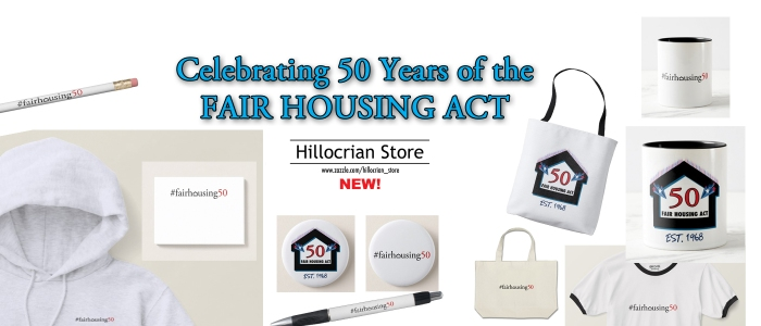 #FairHousing50 – Hillocrian Creative Launches Commemorative Line of Products to Mark 50 Years of the Fair Housing Act